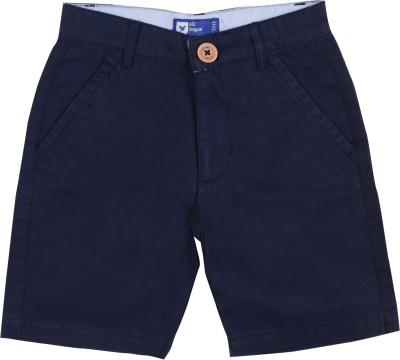 612 League Solid Girl's Dark Blue Chino Shorts