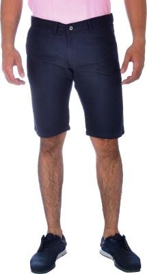 Klorophyl Printed Men's Dark Blue Chino Shorts