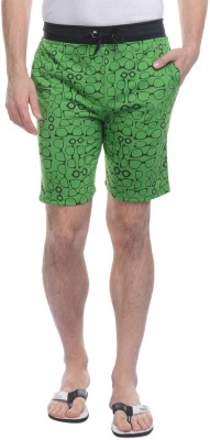 Rose Taylor Printed Men's Green Basic Shorts