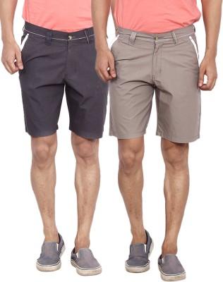 Calloway Solid Men's Black, Red Basic Shorts