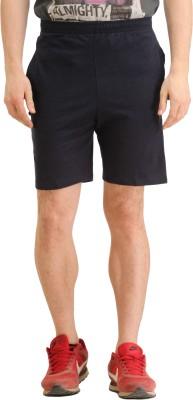 SPAWN Self Design Men's Blue Basic Shorts