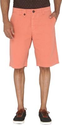 Jadeblue Solid Men's Orange Bermuda Shorts