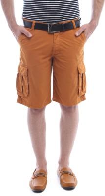 Van Heusen Solid Men's Orange Basic Shorts