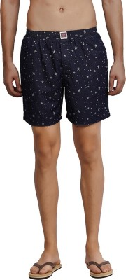 California Club Printed Men's Dark Blue Boxer Shorts