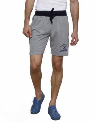 Crux&Hunter Self Design Men's Grey Basic Shorts
