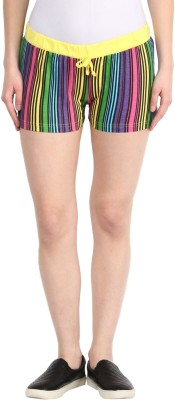 Rose Vanessa Printed Women's Reversible Multicolor Basic Shorts