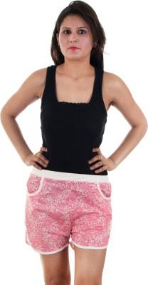 Gwyn Lingerie Floral Print Women's Pink Basic Shorts