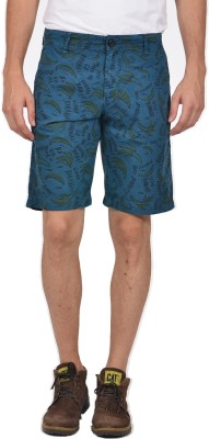 YOO Printed Men's Blue Bermuda Shorts