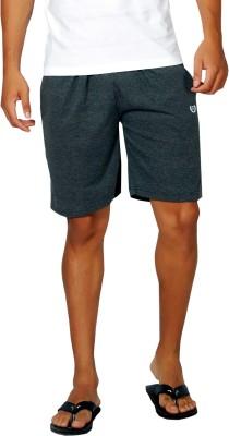 Alan Jones Solid Men,s Grey Bermuda Shorts, Gym Shorts, Night Shorts, Beach Shorts, Running Shorts, Sports Shorts