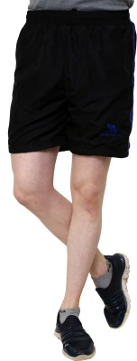 American Cult Striped Men's Reversible Black Basic Shorts