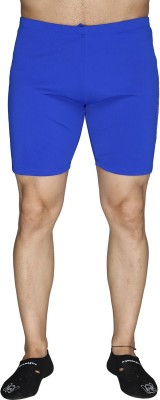 Aquamagica Solid Men's Blue Basic Shorts