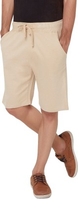 Elaborado Solid Men,s Brown Basic Shorts