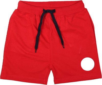 Allen Solly Solid Boy's Red Basic Shorts