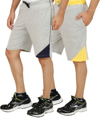 Christy World Solid Men's Multicolor Sports Shorts