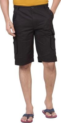 Brinley Solid Men's Black Cargo Shorts