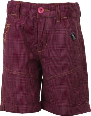 Ice Boys Printed Boy's Pink Basic Shorts