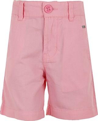 Ice Boys Solid Boy's Pink Basic Shorts