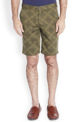 Parx Printed Men's Dark Green Basic Shorts