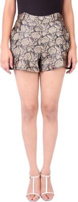 Zachi Floral Print Women's Black Basic Shorts