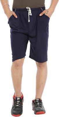 Gumber Solid Men's Blue Basic Shorts