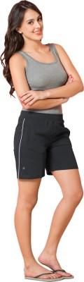 Sweet Dreams Striped Women's Black Sports Shorts