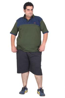 Xmex Embroidered Men's Black Sports Shorts