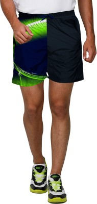 Proplay Printed Men's Dark Blue Sports Shorts