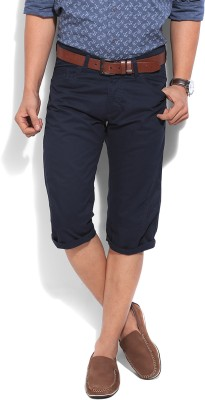 People Solid Men's Blue Shorts