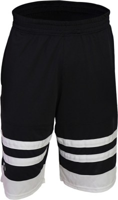 Arcley Solid Men,s Black, White Gym Shorts
