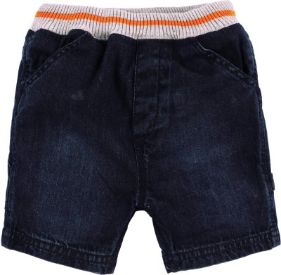 Baby Pure Solid Baby Boy's Blue Denim Shorts
