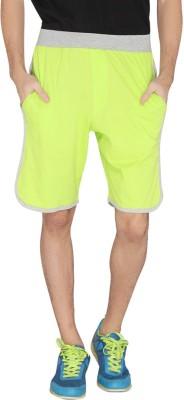 LUCfashion Solid Men's Green Sports Shorts