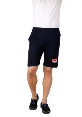 Style Guns Clothing Solid Men's Dark Blue Sports Shorts