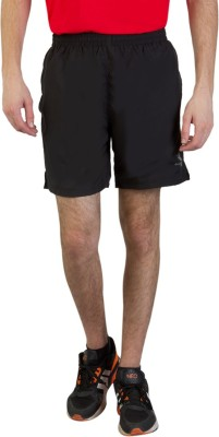 Goodluck Solid Men,s Black, Red Sports Shorts