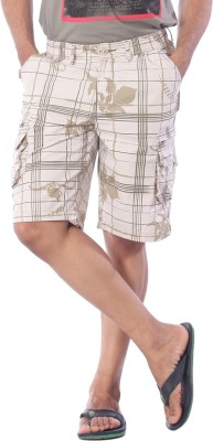Bornfree Printed Mens Multicolor Bermuda Shorts