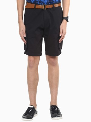 American Swan Solid Men's Blue Cargo Shorts