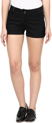 Species Solid Women's Black Basic Shorts