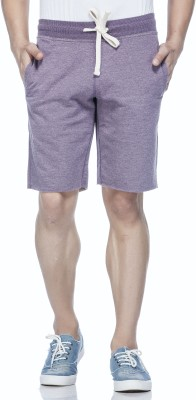 Tinted Solid Men's Purple Basic Shorts
