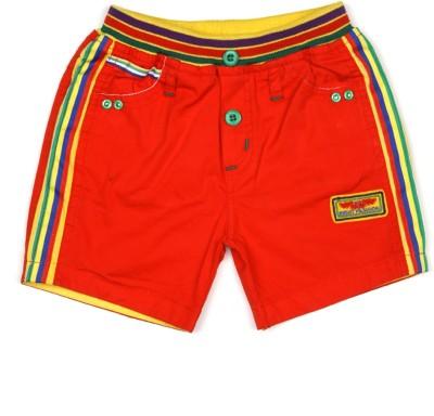 AJ Dezines Self Design Baby Boy's Red Basic Shorts
