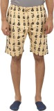Tantra Printed Men's Beige Basic Shorts