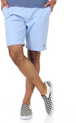 Shapes Solid Men's Light Blue Chino Shorts