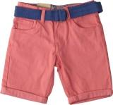 Saiaansh Short For Boys Cotton Linen Ble...