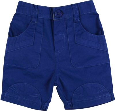 Mom & Me Solid Baby Boy's Blue Basic Shorts