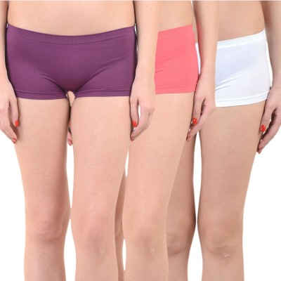 Mynte Solid Women's Purple, Red, White Cycling Shorts, Gym Shorts, Swim Shorts