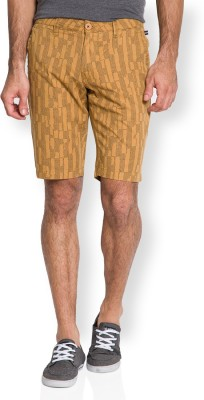 The Indian Garage Co. Printed Men's Beige Chino Shorts