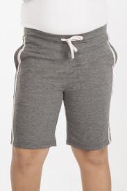 Vestonice Short For Boys Solid Cotton Linen Blend, Cotton Nylon Blend, Cotton Linen Blend(Grey)