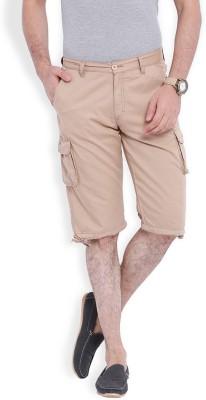 Skie Studio Solid Men's Beige Chino Shorts