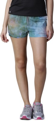 Athena Printed Women,s Multicolor Gym Shorts