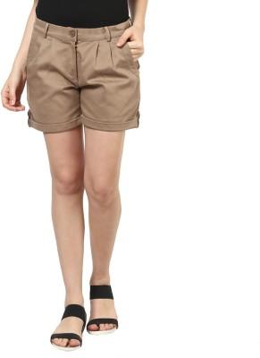 Martini Solid Women's Beige Hotpants