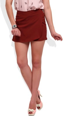 Street 9 Solid Women's Brown Skort