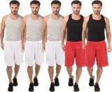 Meebaw Self Design Men's White, White, W...